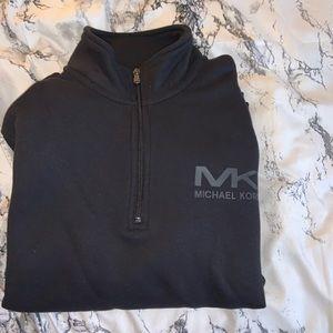 Black Michael Kors half zip